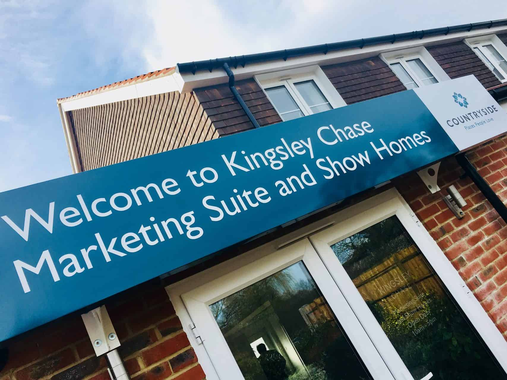 Kingsley Chase Marketing Suite Signage