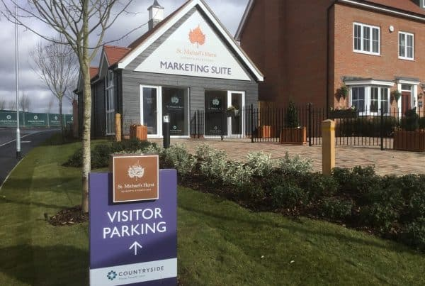 Outside St Michaels Hurst Marketing Suite