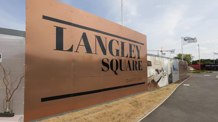Langley Square Site Hoarding & Signage